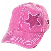 High Ponytail Glitter Star Adjustable Baseball Cap