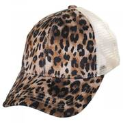 High Ponytail Leopard Mesh Adjustable Baseball Cap