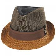 Journey Wool and Raffia Straw Fedora Hat