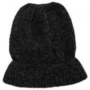 Chenille Ponytail Beanie Hat