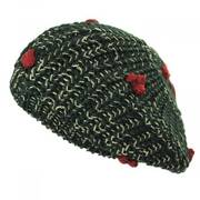 Knit Poinsettia Beret