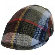 Donegal Tweed Wool Herringbone Patchwork Plaid Ivy Cap