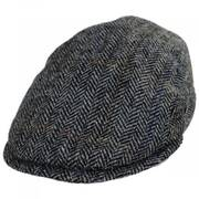 Harris Tweed Overcheck Herringbone Wool Ivy Cap