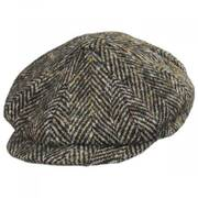 Donegal Tweed Large Herringbone Wool Newsboy Cap