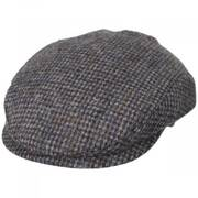 Harris Tweed Wool Slim Ivy Cap