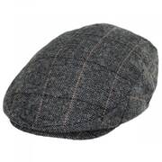 Vesper Herringbone Plaid Wool Blend Ivy Cap