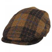 Baldwin Harris Tweed Plaid Wool and Cotton Ivy Cap