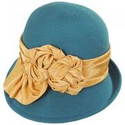 Bengaline Band Profile Wool Felt Cloche Hat - Made to Order