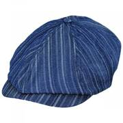 Brood Adjustable Denim Newsboy Cap