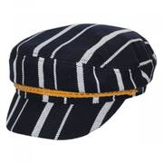Ashland Stripe Cotton Blend Fiddler Cap