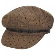 Ashland Polka Dot Wool Blend Fiddler Cap