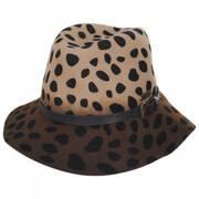 Leopard Wool Felt Fedora Hat