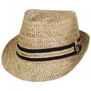 2X Buri Straw Fedora Hat