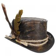 Wiccan Leather Top Hat