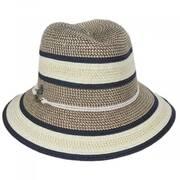 Verita Toyo Straw Blend Fedora Hat