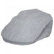 Striper Seersucker Cotton Ivy Cap