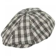 Brood Lightweight Houndstooth Plaid Overcheck Newsboy Cap
