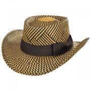 Two-Tone Toyo Straw Gambler Hat