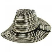 Alessia 2Tone Toyo Straw Safari Fedora Hat