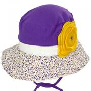 Kids' Eco Purple Cotton Blend Sun Hat