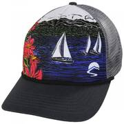 Sail Away Trucker Snapback Baseball Cap