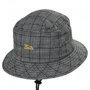 Stith Linen and Cotton Plaid Bucket Hat