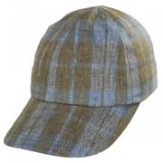 Angel Plaid Six-Panel Linen Fitted Baseball Cap