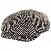 Tobias Herringbone Wool Newsboy Cap