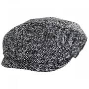 Skully Marl Tweed Wool Newsboy Cap