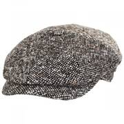 Skully Marl Tweed Wool Newsboy Cap
