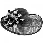 Flor Dela Mar Sinamay Straw Wide Brim Boater Hat