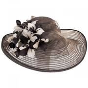 Flor Dela Mar Sinamay Straw Dress Hat