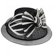 Jeltrim Sinamay Straw Big Brim Swinger Hat