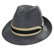 Monet Tweed Braid Material Fedora Hat