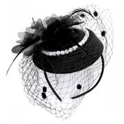 Velvet and Pearl Fascinator Hat
