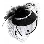 Velvet and Pearl Fascinator Hat