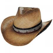 Star Spangled Toyo Straw Western Hat