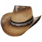 Star Spangled Toyo Straw Western Hat