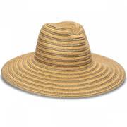 Hamilton Toyo Straw Metallic Fedora Hat