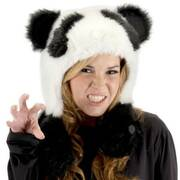 Panda Bear Hug Trapper Hat