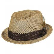 Stout Light Tan Twisted Toyo Straw Fedora Hat