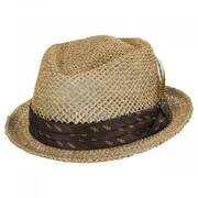 Stout Light Tan Twisted Toyo Straw Fedora Hat
