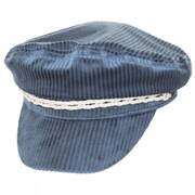 Ashland Light Blue Corduroy Fiddler Cap