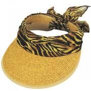 Tiger Scarf Toyo Straw Visor