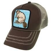 Beaver Mesh Trucker Snapback Baseball Cap