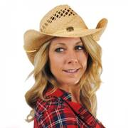 Maggie May Straw Western Hat