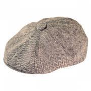 Herringbone Wool Blend Newsboy Cap
