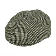Houndstooth Wool Blend Newsboy Cap