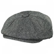 Marl Tweed Wool Blend Newsboy Cap