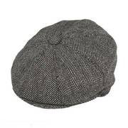 Mix Herringbone Wool Blend Newsboy Cap